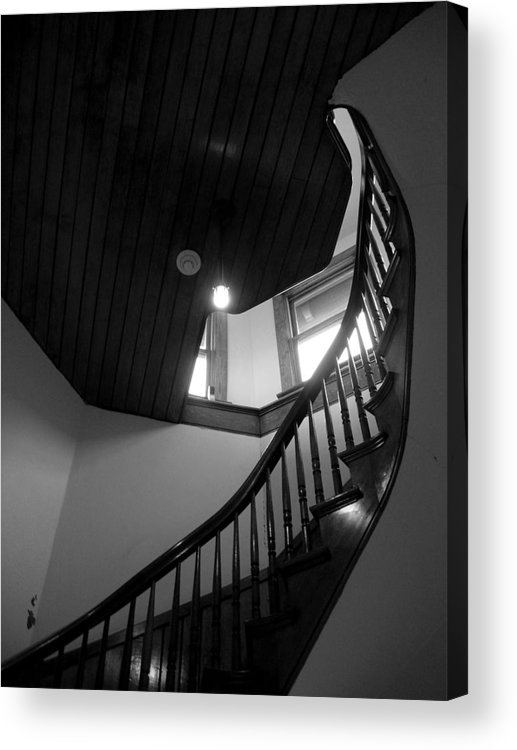 Stairs Acrylic Print featuring the photograph Stairwell To The Studio Crow's Nest by Robert Boyette