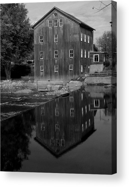 Fine Art Photograph Acrylic Print featuring the photograph Stockdale Mill by Michael L Kimble