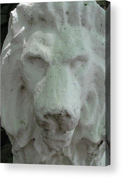 Leo Acrylic Print featuring the photograph Stonework Leo by Belinda Consten