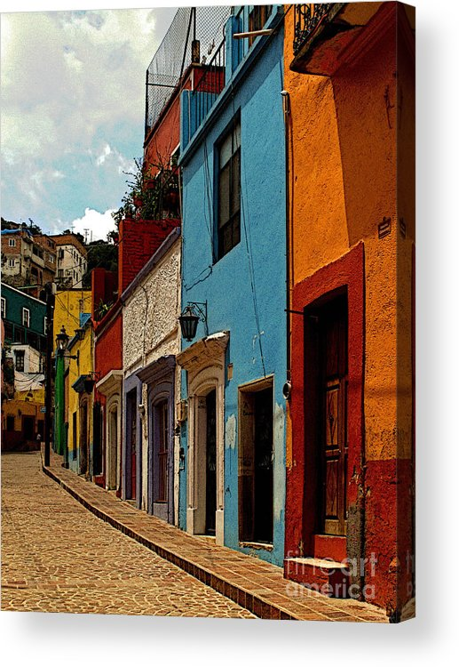 Darian Day Acrylic Print featuring the photograph Street Of Color Guanajuato 3 by Mexicolors Art Photography