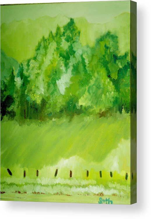 Spring Acrylic Print featuring the painting Sunday At Two Thirty by Seth Weaver