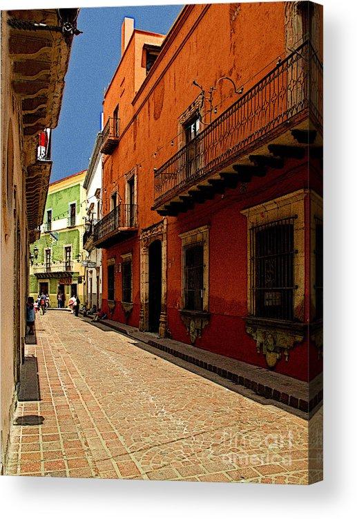Darian Day Acrylic Print featuring the photograph Sunny Street by Mexicolors Art Photography