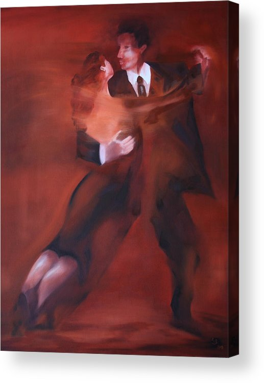 Tango Acrylic Print featuring the painting Tango No.1 by Harri Spietz