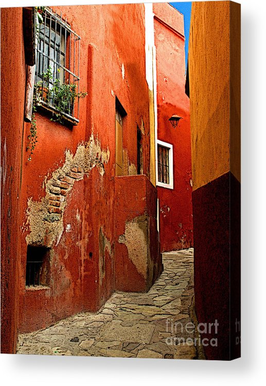 Darian Day Acrylic Print featuring the photograph Terracotta Alley by Mexicolors Art Photography