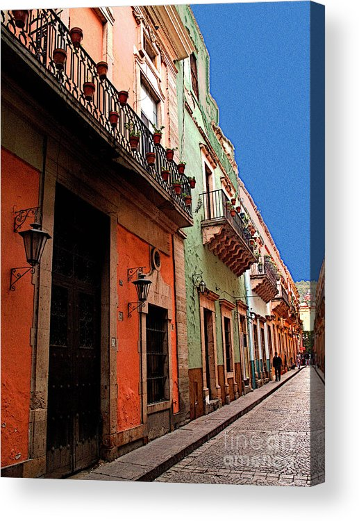 Darian Day Acrylic Print featuring the photograph Terracotta And Mint by Mexicolors Art Photography