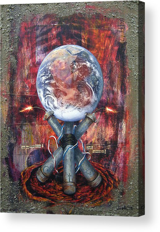 Acrylic Acrylic Print featuring the digital art the 7 contemporary sins - Wrath by Janelle Schneider