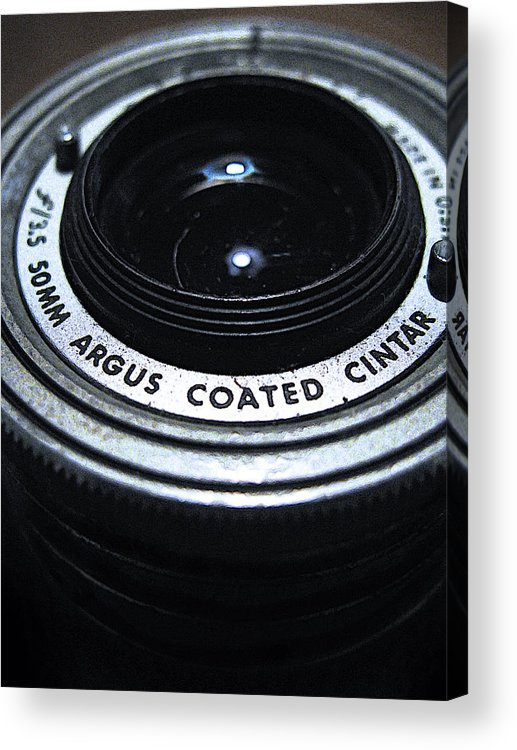 Camera Acrylic Print featuring the photograph The Angle Of The Lens by Colleen Kammerer