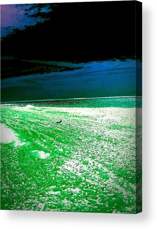 Colors Acrylic Print featuring the photograph The Beach In Colors by ONDRIA-UNIqU3-Pics- Admin