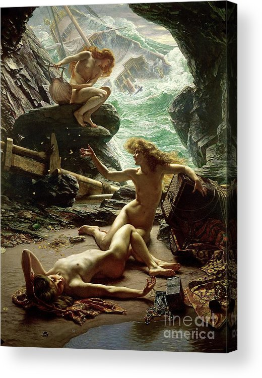 The Cave Of The Storm Nymphs Acrylic Print featuring the painting The Cave Of The Storm Nymphs by Sir Edward John Poynter
