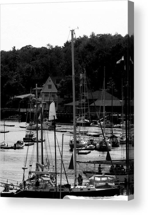 Water Acrylic Print featuring the digital art The Docks by Donna Thomas