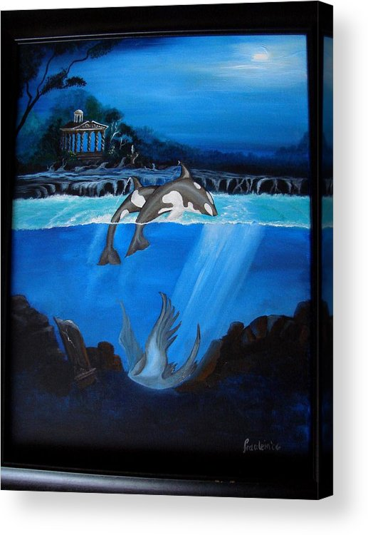 Seascape Acrylic Print featuring the painting The Fallen by Glory Fraulein Wolfe