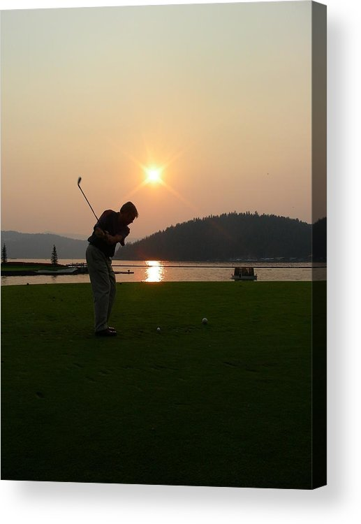 Golf Acrylic Print featuring the photograph The Floating Green by Peter McIntosh
