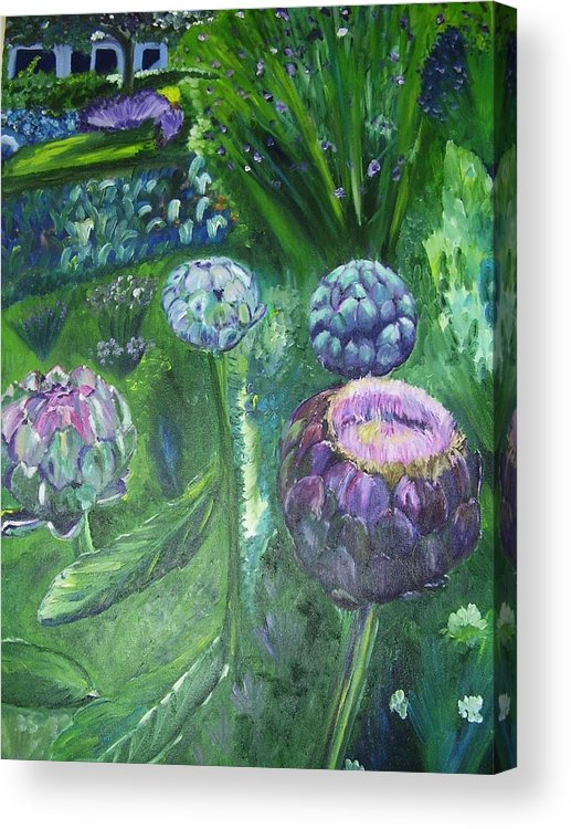 Vegetables Acrylic Print featuring the painting The Garden by Murielle Hebert