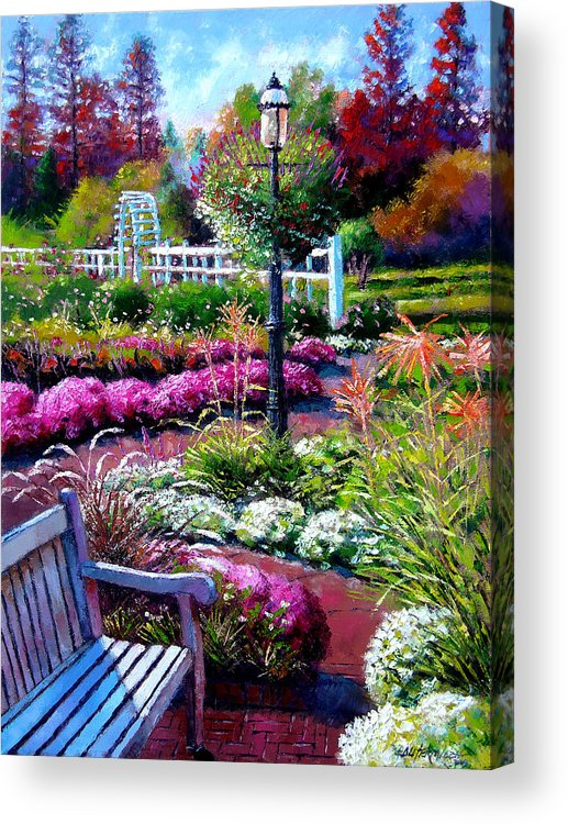 Garden Path Acrylic Print featuring the painting The Golden Season by John Lautermilch