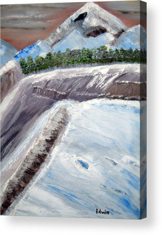 Glacier Acrylic Print featuring the painting The Last Glacier by Edwin Long
