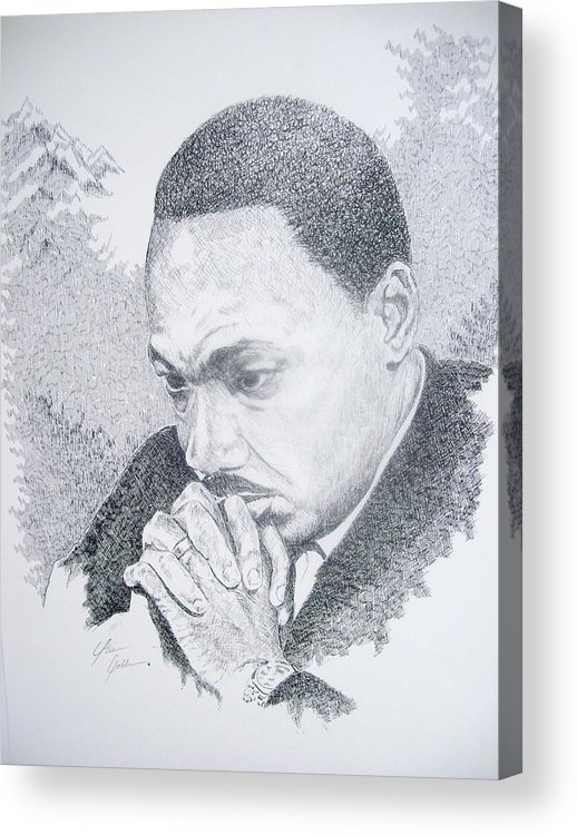 Martin King Acrylic Print featuring the drawing The Mountain Top by Otis Cobb