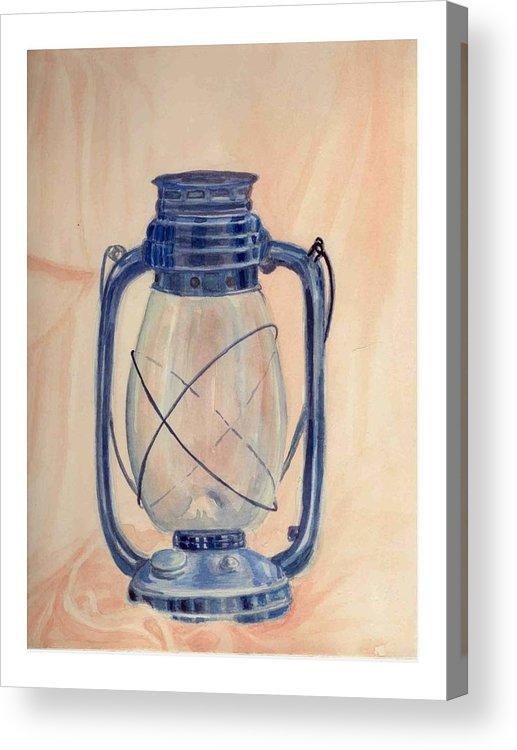 Lantern Acrylic Print featuring the painting The Old Lantern by Asha Sudhaker Shenoy