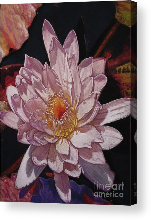 Botanical Acrylic Print featuring the painting The Perfect Lily by Melissa Tobia