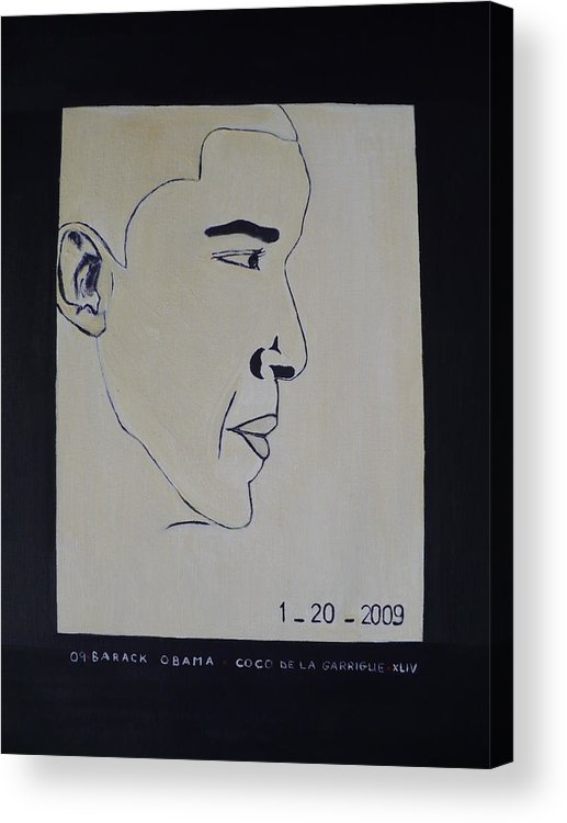 The Dream Come Truth. Acrylic Print featuring the painting The President Barack Obama. by Bucher