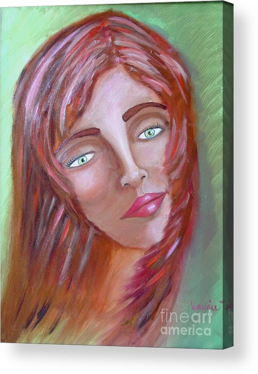 Redheads Acrylic Print featuring the painting The Redhead by Laurie Morgan