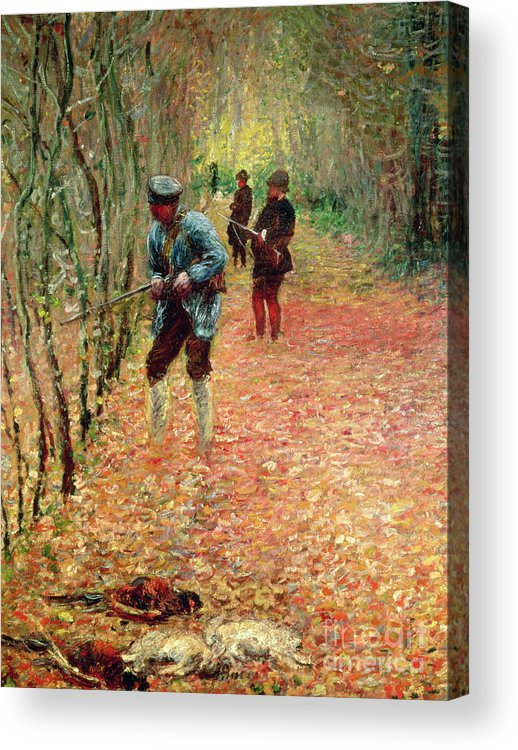 The Shoot Acrylic Print featuring the painting The Shoot by Claude Monet