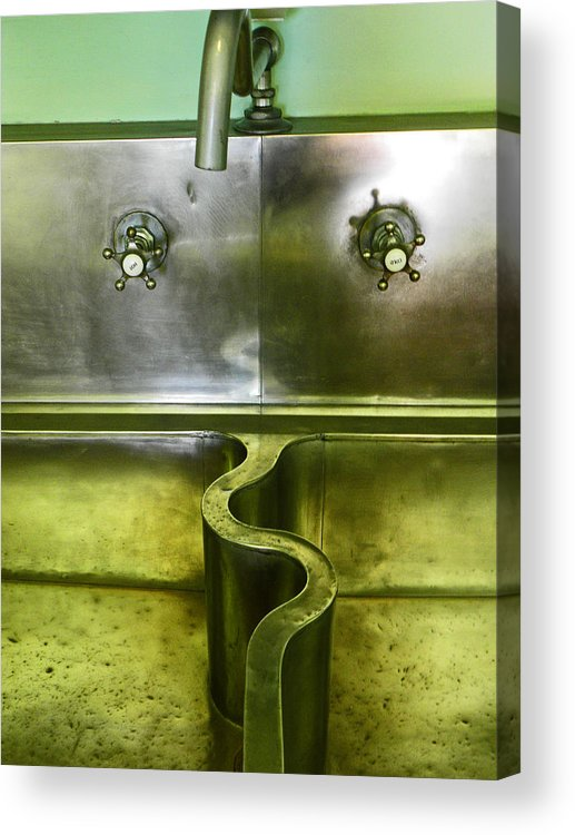 Sink Acrylic Print featuring the photograph The Sink by Elizabeth Hoskinson