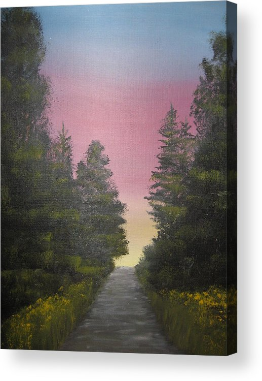 Northwest Landscape Acrylic Print featuring the painting The Straight And Narrow Path by Terri Warner