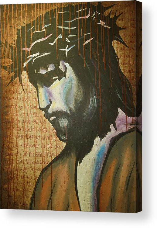 Jesus Acrylic Print featuring the painting The Ultimate Sacrifice by Hannah Greer