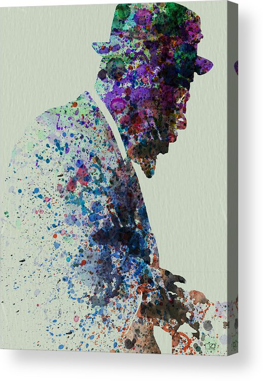 Acrylic Print featuring the painting Thelonious Monk Watercolor 1 by Naxart Studio