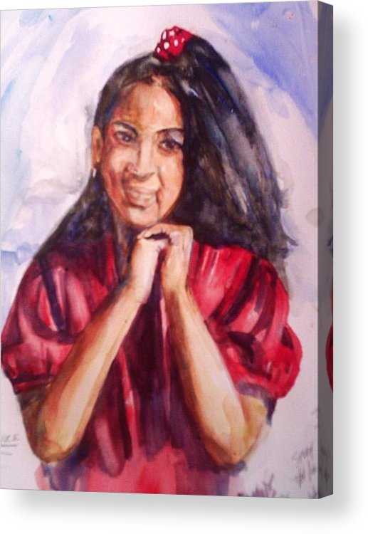Portrait Acrylic Print featuring the painting Tooter by Impressionist FineArtist Tucker Demps Collection