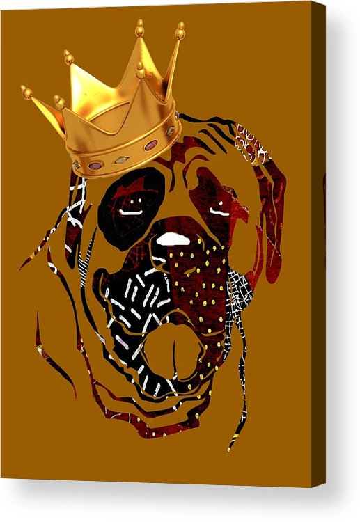 Dog Acrylic Print featuring the mixed media Top Dog by Marvin Blaine