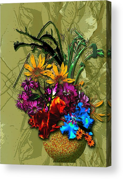 Flowers Acrylic Print featuring the digital art Touched by Tony Marquez