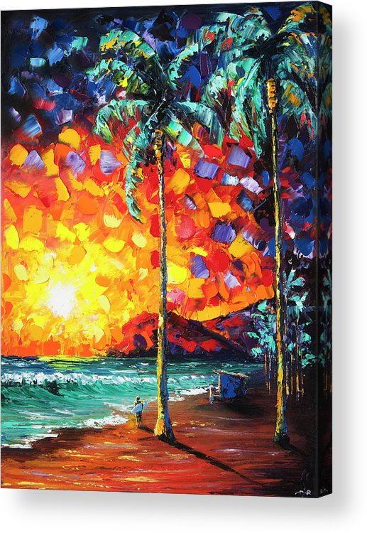 Tower Acrylic Print featuring the painting Tower Life 4 by Nelson Ruger