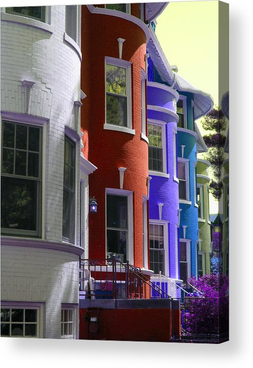 Townhouses Acrylic Print featuring the photograph Townhouse Row 2 by Sean Owens