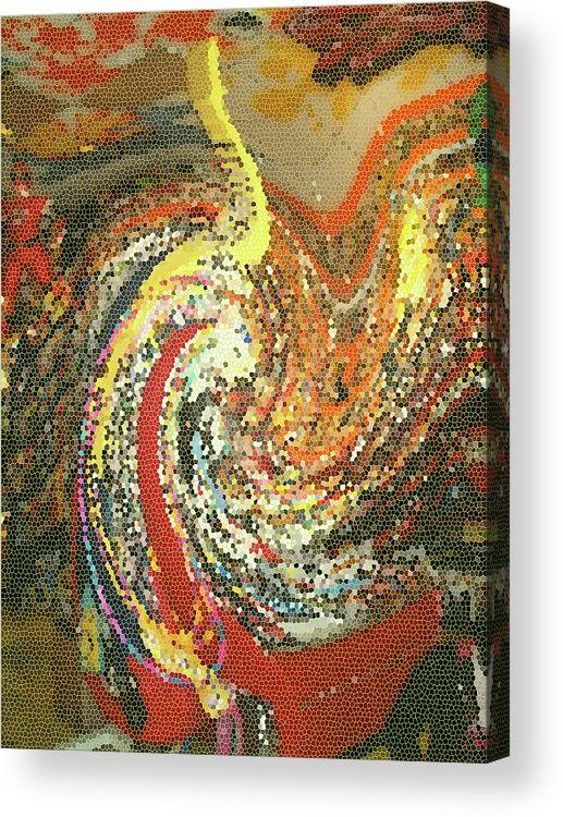 Abstract Acrylic Print featuring the photograph Toy Tsunami by Anne Cameron Cutri
