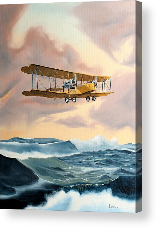 Aircraft Art Acrylic Print featuring the painting Transatlantic by Kenneth Young