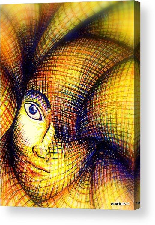 Transmutation Of The Forms Acrylic Print featuring the digital art Transmutation Of The Forms by Paulo Zerbato