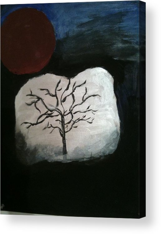 Tree Of Life Acrylic Print featuring the painting Tree Of Life by Jennifer Briggs