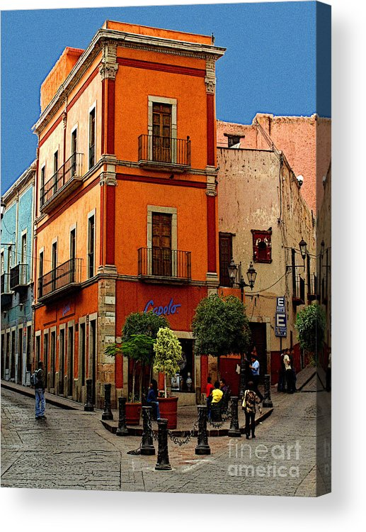 Enhanced Digital Image Acrylic Print featuring the photograph Triangle Corner by Mexicolors Art Photography
