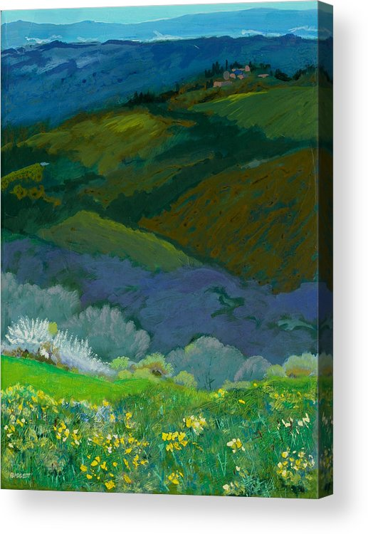 Landscape Acrylic Print featuring the painting Tuscan Vista by Robert Bissett