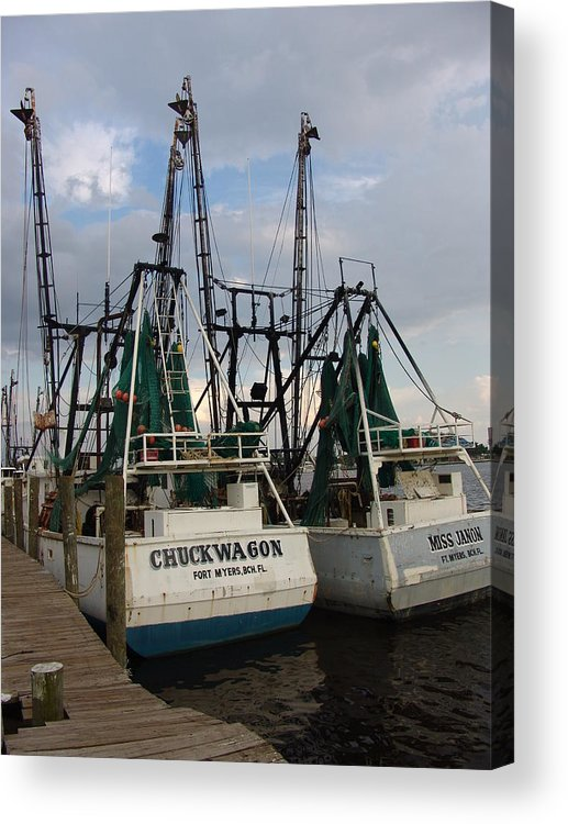 Boat Acrylic Print featuring the photograph Twin Shrimp by Florene Welebny