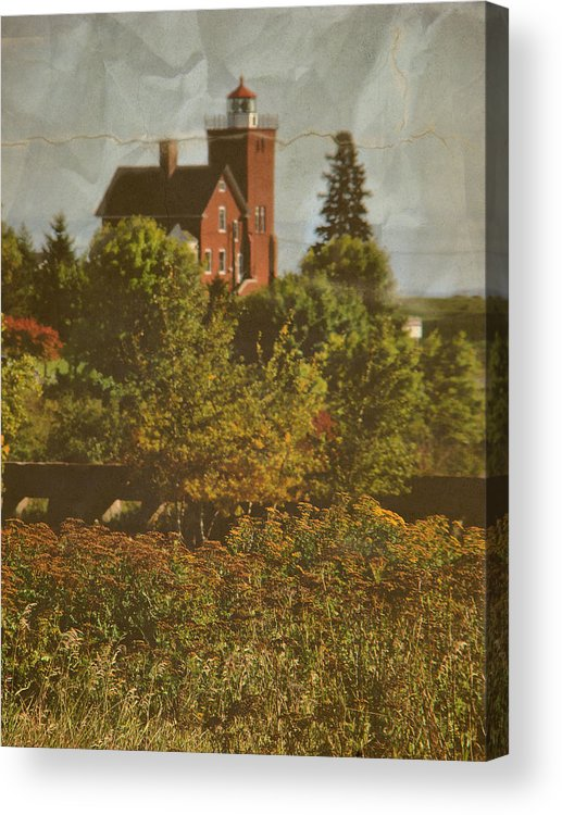 Layers Acrylic Print featuring the photograph Two Harbors Lighthouse by Tingy Wende