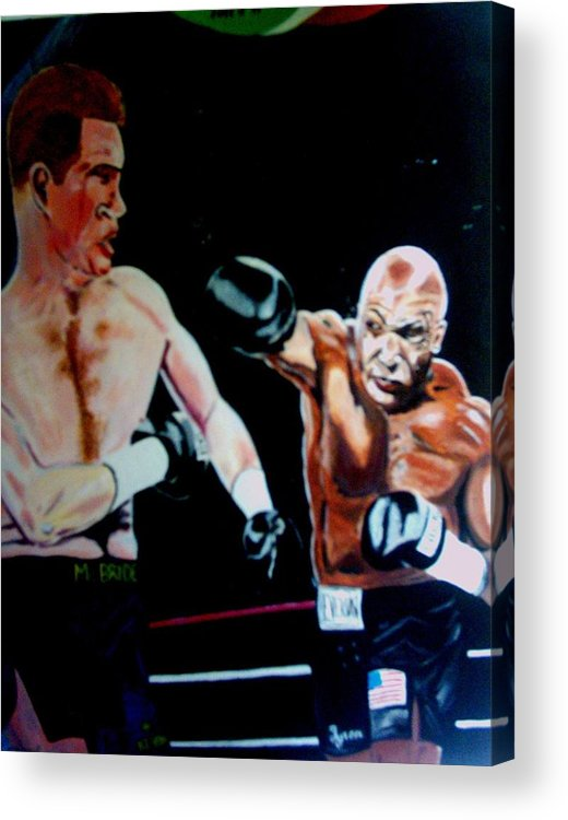 Mike Tyson Acrylic Print featuring the painting Tyson by Colin O neill