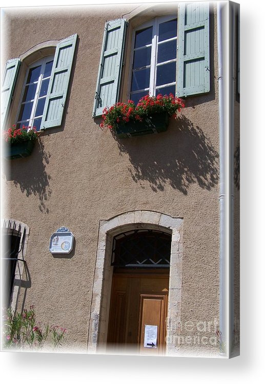 House Acrylic Print featuring the photograph Un Maison by Nadine Rippelmeyer