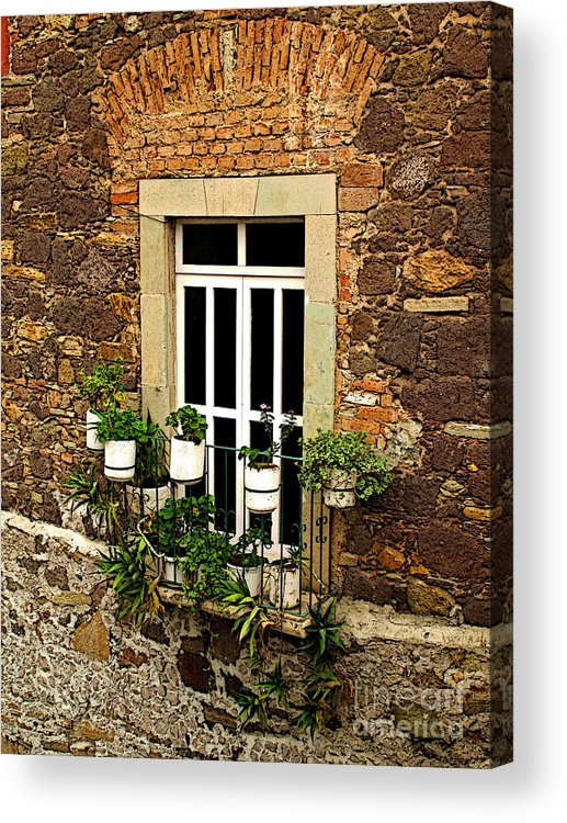 Mexicolors.com Acrylic Print featuring the photograph Upper Window by Mexicolors Art Photography