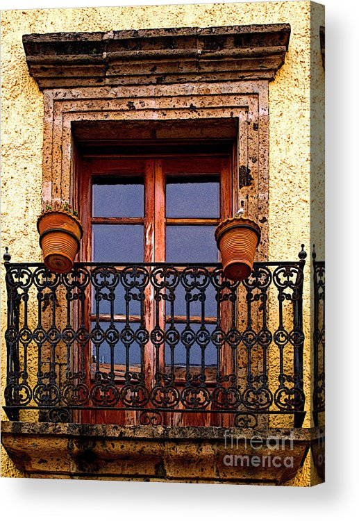 Tlaquepaque Acrylic Print featuring the photograph Upper Window Tlaquepaque by Mexicolors Art Photography