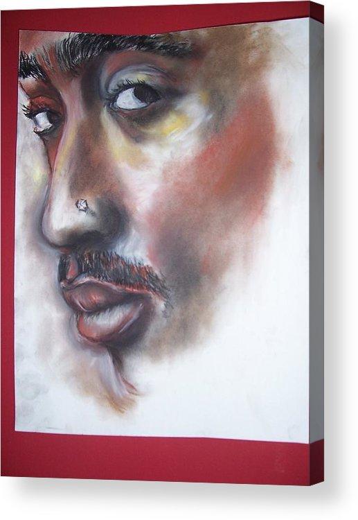 Tupac Shakur Acrylic Print featuring the print Urban Poet by Darryl Hines