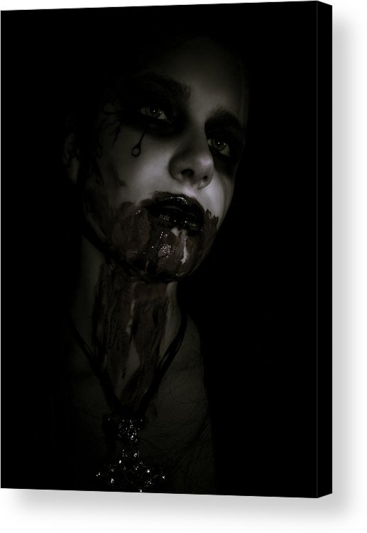 Vampire Acrylic Print featuring the photograph Vampire Feed 2 by Kelly Jade King