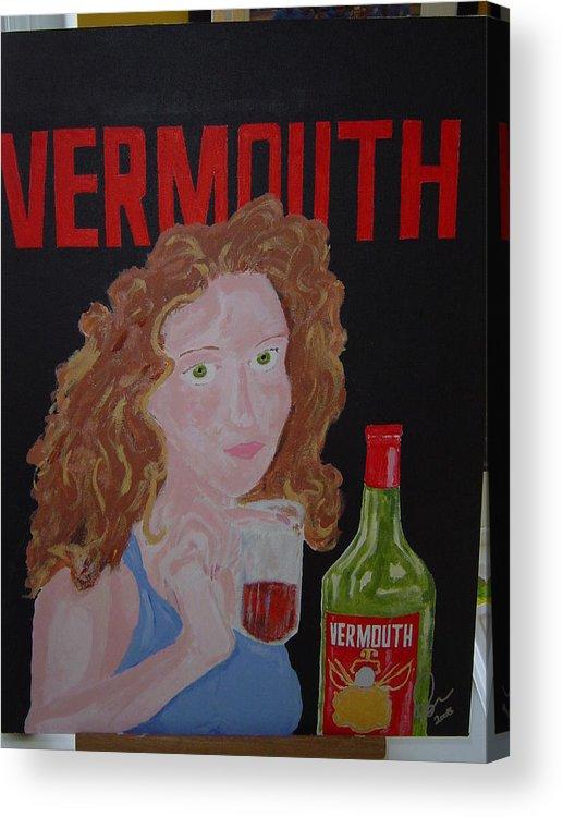 Acrylic Acrylic Print featuring the painting Vermouth by Raymond Nash