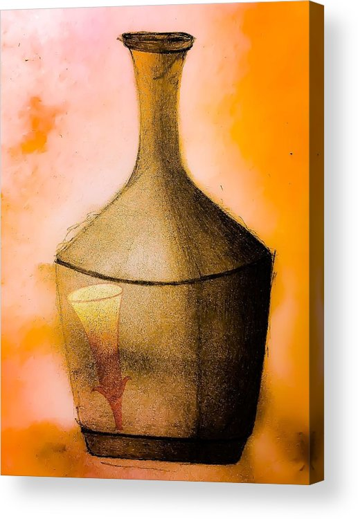 Acrylic Print featuring the digital art Vessel by David Schiffer